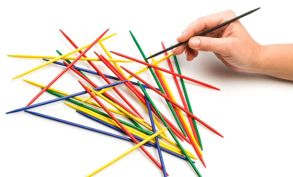 Can a kid's game of pick-up-sticks teach us anything?
