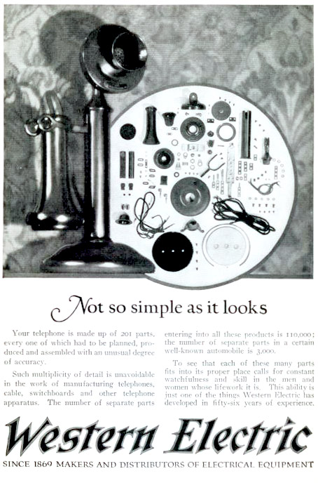 Western Electric Phone Ad 1920s