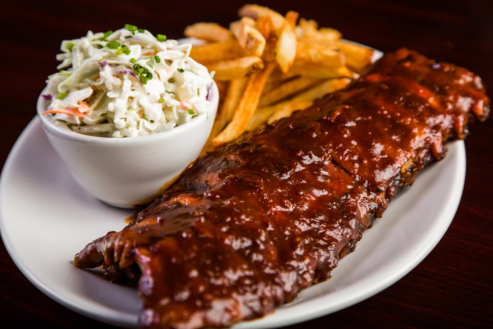 O'Brian's served my ribs and my slaw but those are not my fries.
