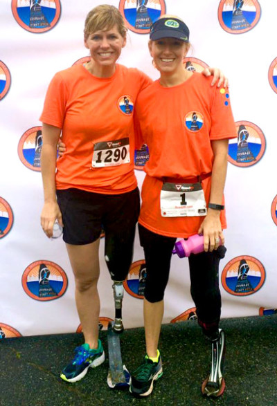 Janelle and Cadie Finish Inaugural Rookie Run 'N' Walk - 9-26-2015