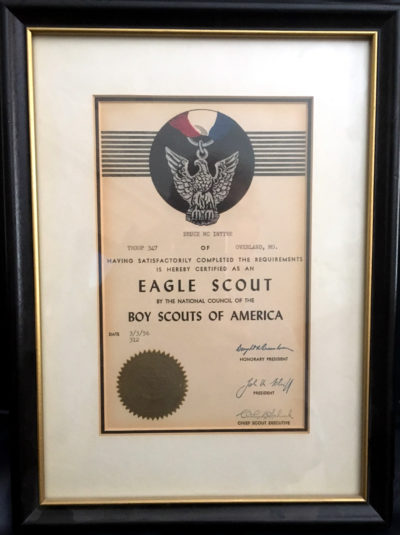 My Eagle Scout Certificate