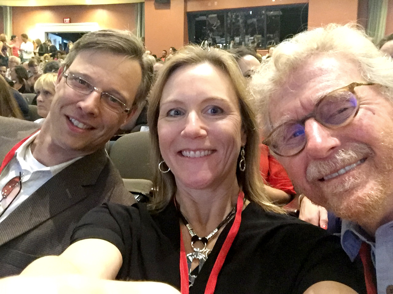 Here I am at TEDx Charlotte - joined by Phil Harris, host on WKQC-FM with his wife, Sara Vavra of Va! Wellness + Bodywork.